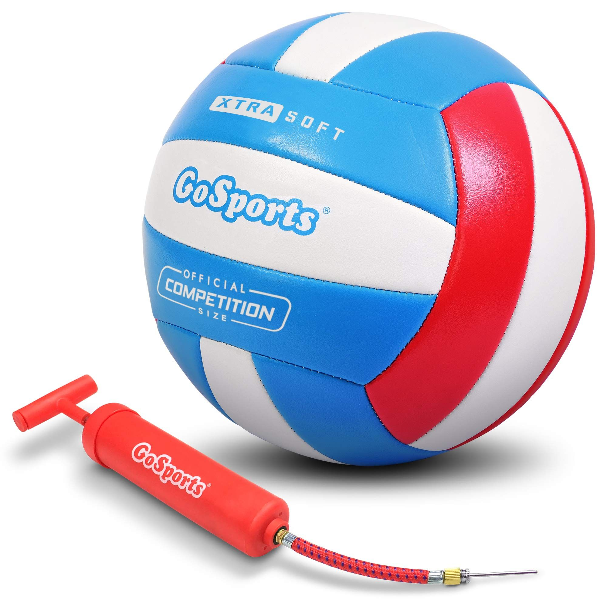Gosports Soft Touch Recreational Volleyball Regulation Size For Indoor Or Outdoor Play Includes Ball Pump Choose Ball Pump Volleyball Air Pump