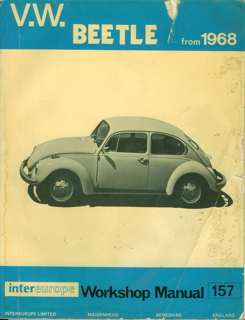 vw beetle 1968 workshop manual graphic design pinterest vw rh pinterest ca 1968 Volkswagen Beetle Review 1968 Volkswagen Beetle Review