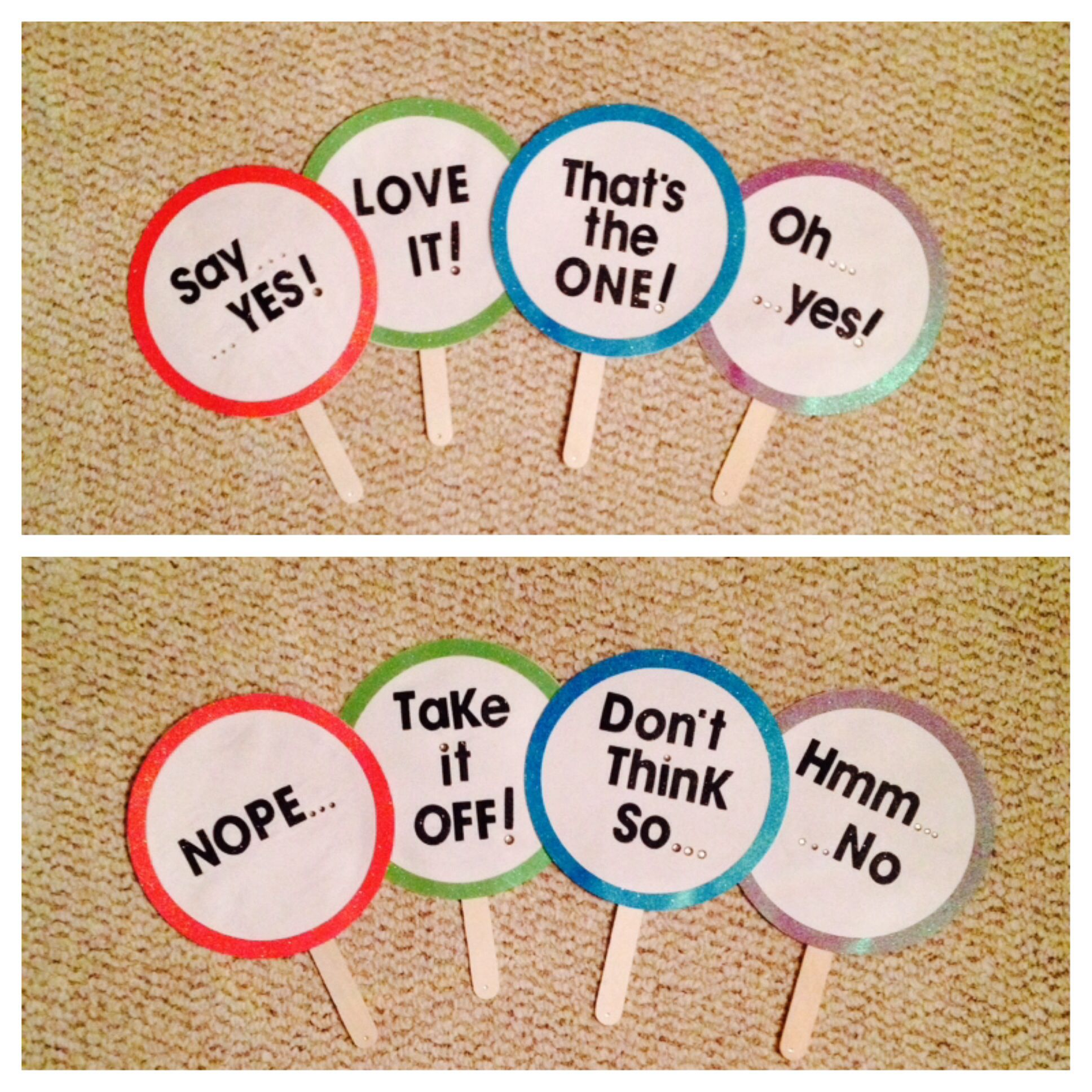 Diy Say Yes To The Dress Score Paddles