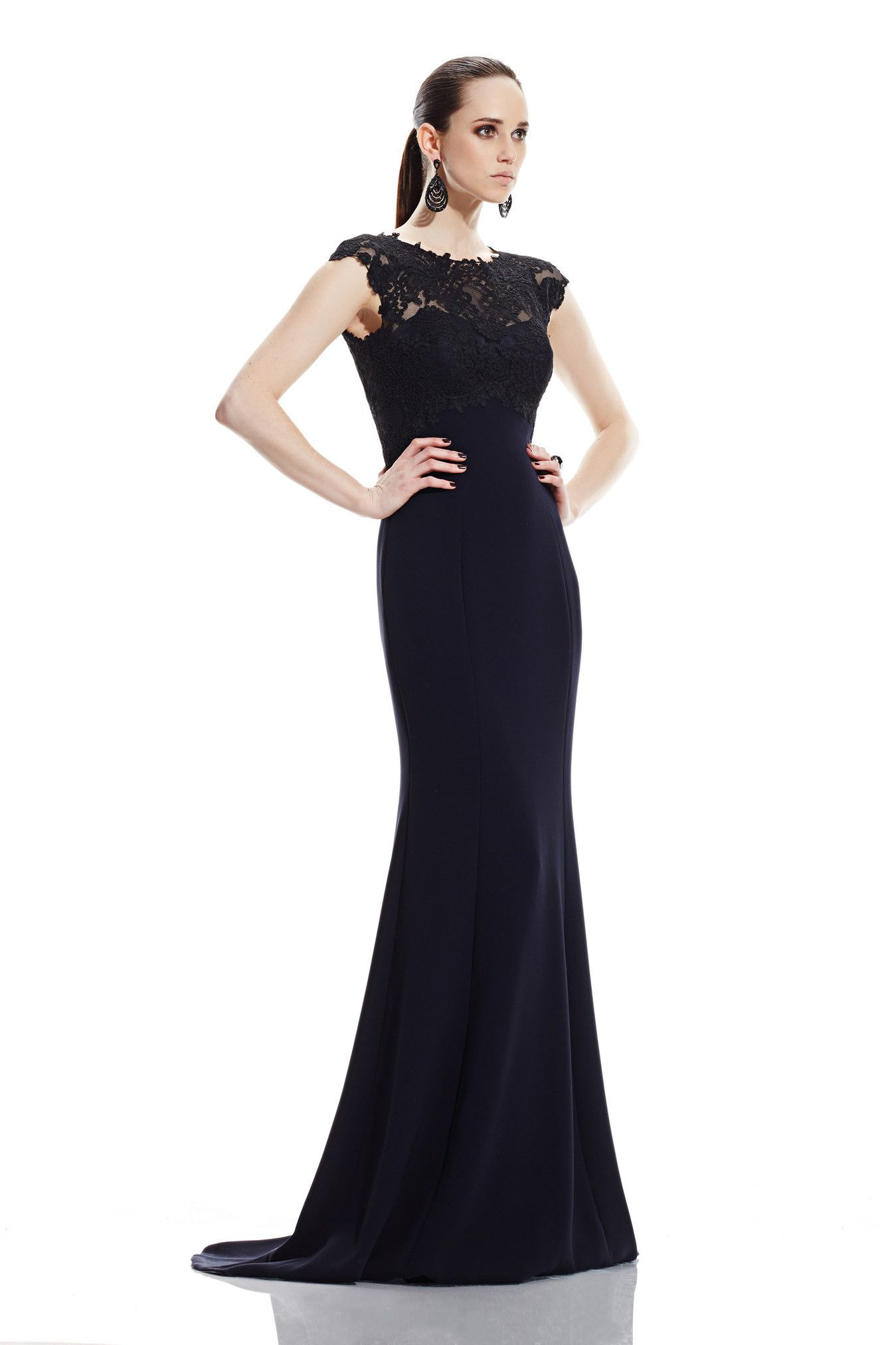 Theia | Black Lace Bodice Gown | Lyst | Dresses: The Edit ...
