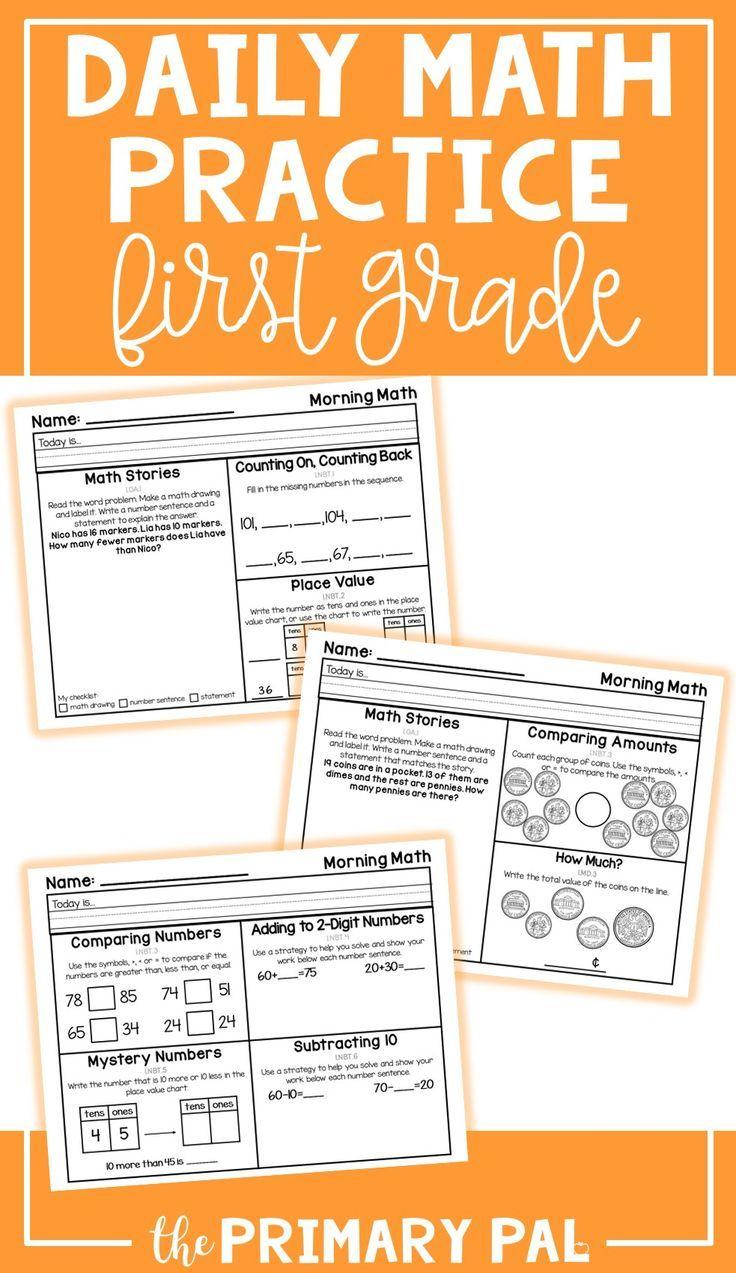 First Grade Math Worksheets Set 6 First grade math