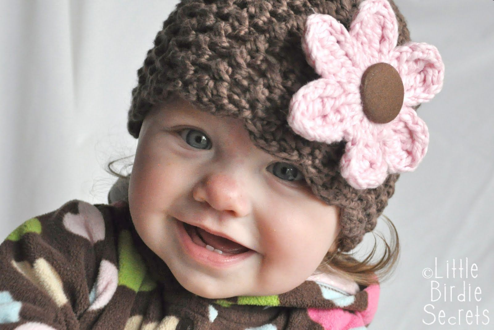 Attach a button to a hat, then make several flowers to fit over the ...