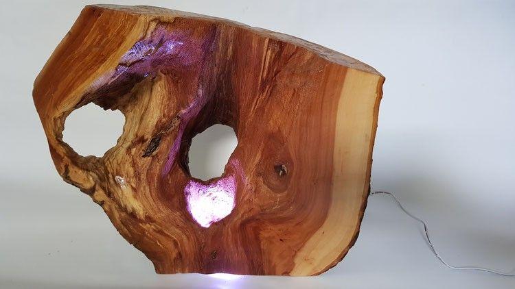 Deko Holz Lampe Led Madeoftimber By Thomas Willa Pinterest
