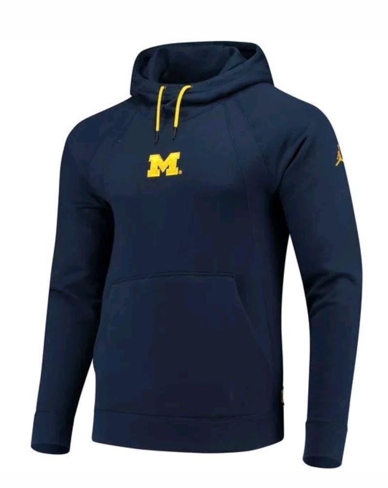 Nike Jordan Michigan Wolverines Wings Fleece Pullover Hoodie Men S New Sz S Nike Hoodie Hoodies Men Pullover Hoodies Pullover Hoodie [ 1000 x 796 Pixel ]