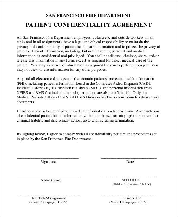 Confidentiality Agreement Form Free Word Pdf Documents Download