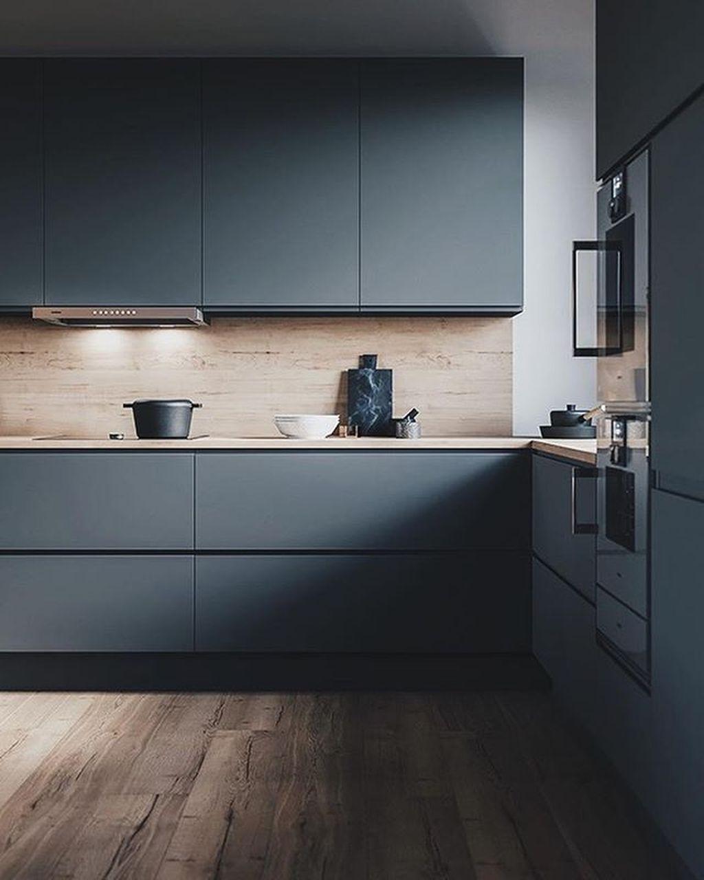 9+ Elegant Black Kitchen Design Ideas You Need To Try   Küchen ...