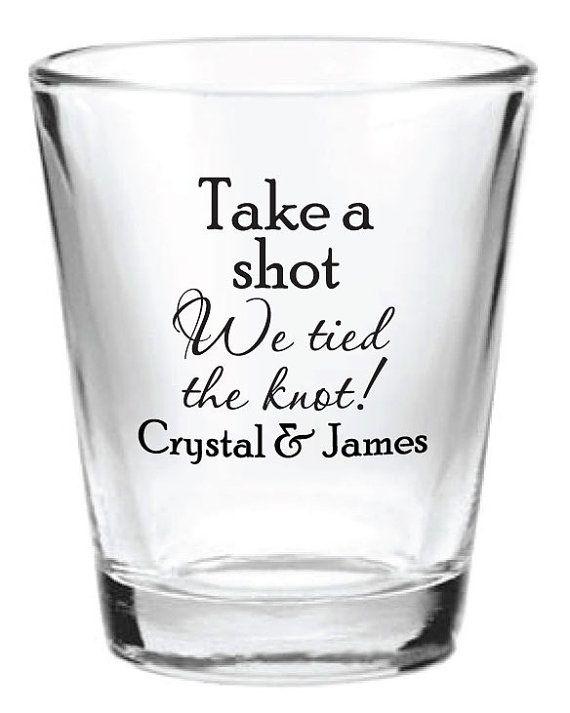 144 Custom Wedding Favor Glass Shot Glasses Personalized NEW 2015 Favors Ideas