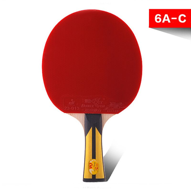 Check Price Table Tennis Supplies Genuine Double Fish Six Star Table Tennis Racket Horizontal Grip Ping Pong Bat For Beginners And Medium Table Tennis Suppli