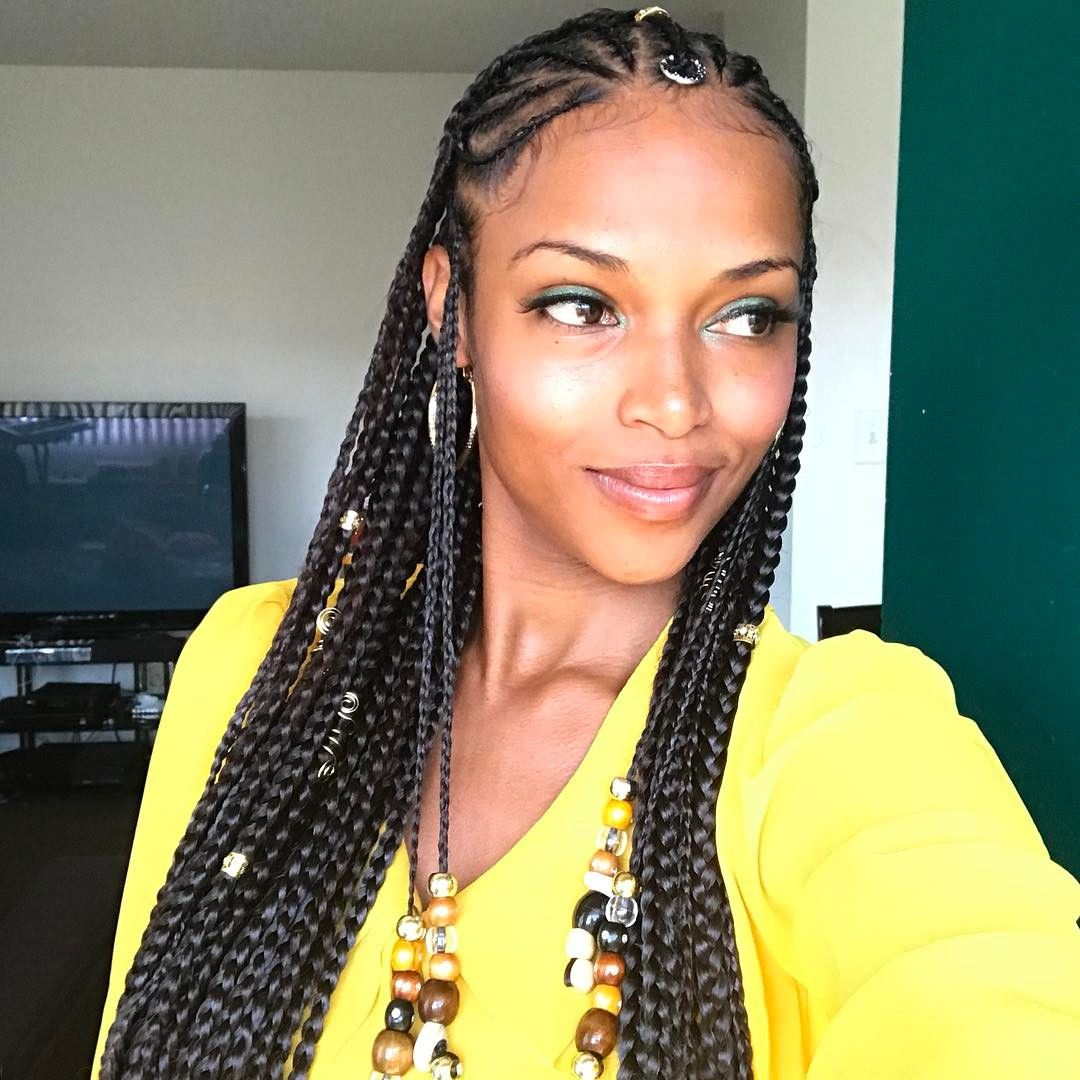 Pin By Marcia Allen On Hair Goddess Braids Hairstyles Braids For Black Women Braided Hairstyles For Black Women