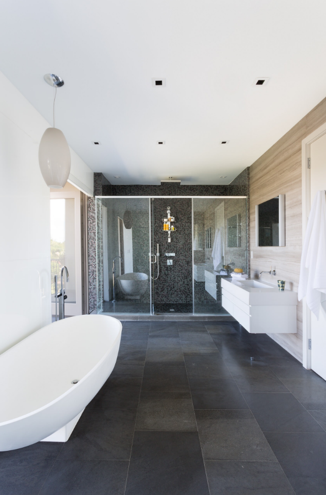 Aesthetic grey slate flooring decor ideas in bathroom contemporary design ideas with aesthetic bath bath tub bath vanity bathroom bathroom mirror ceiling