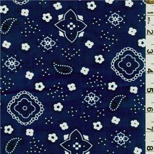 Navy Bandana Print Bolt Bandana Print Printing On Fabric Quilting Blogs