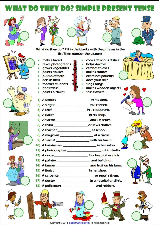 Present Simple Activities For Kids