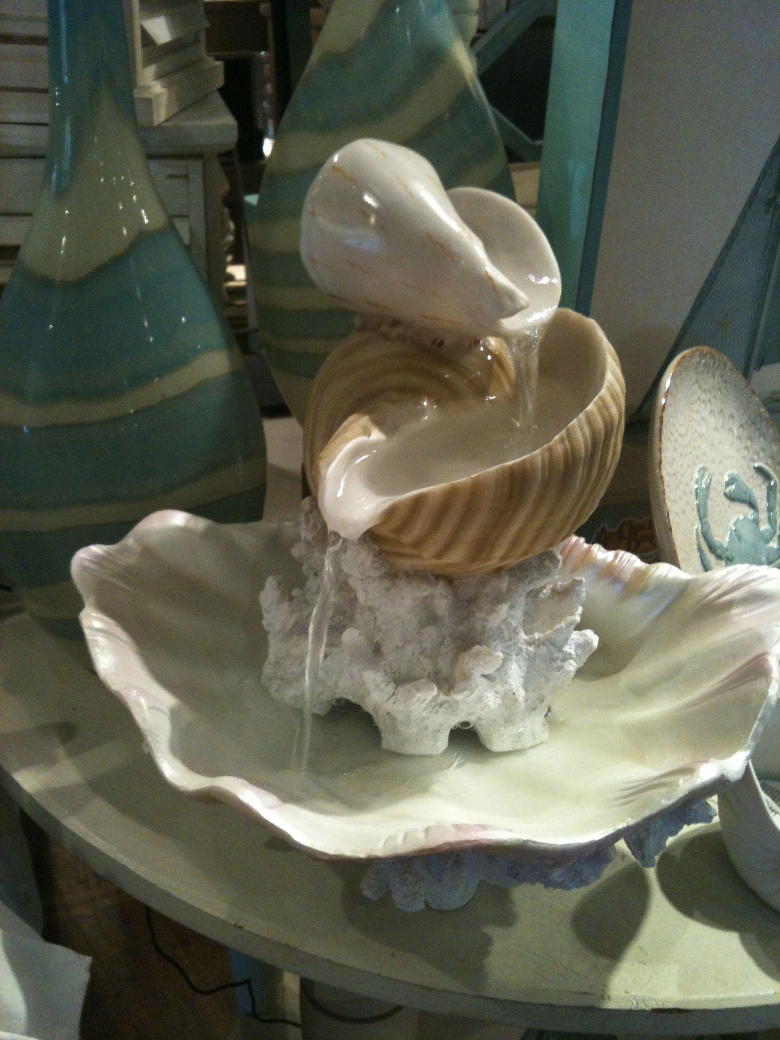 Seashell fountain  My Dreamy Beach House  Seashell
