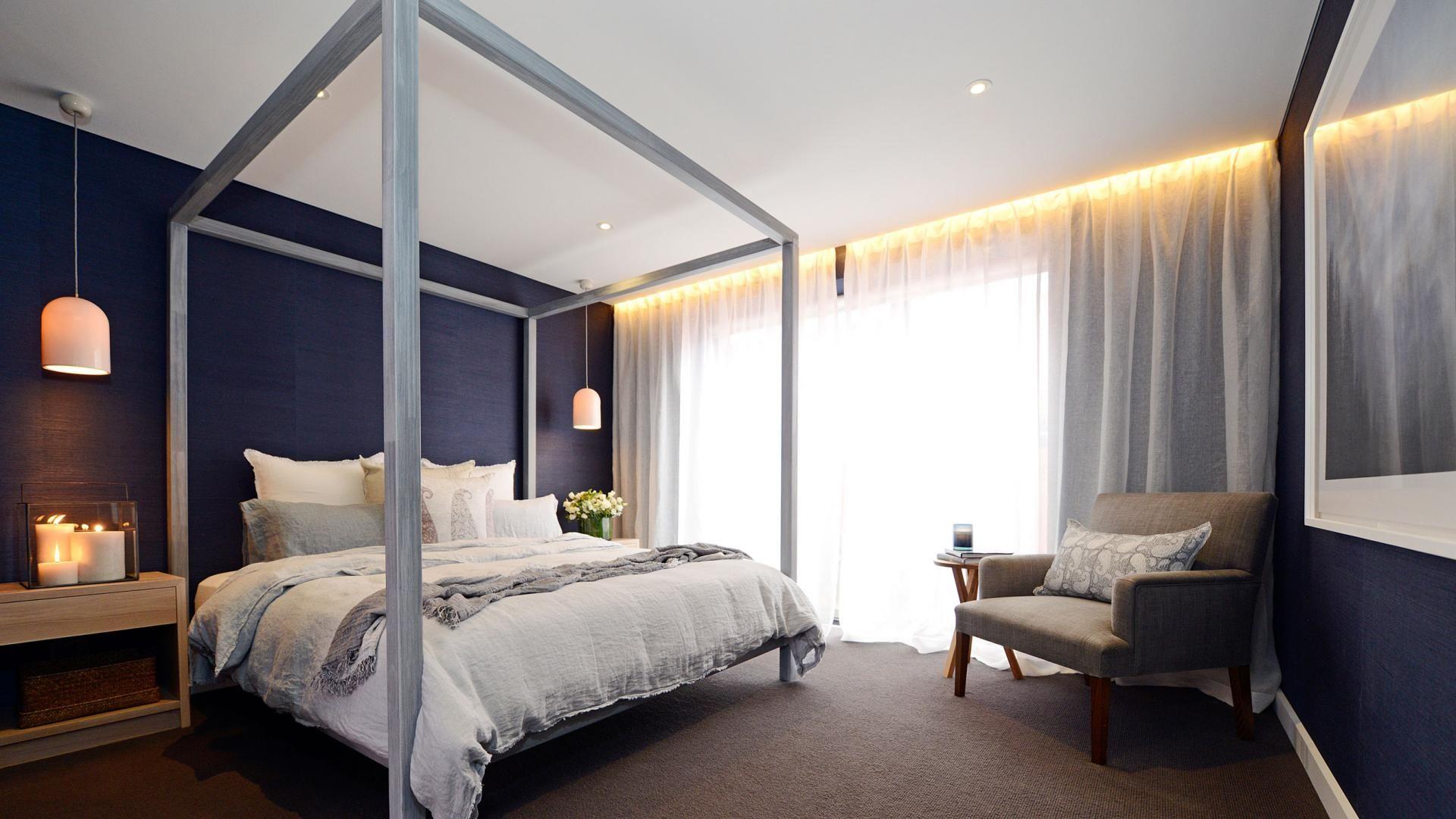 #theblock master bedroom #roomreveals: Dea & Darren's room. Photography by Martin Philbey.