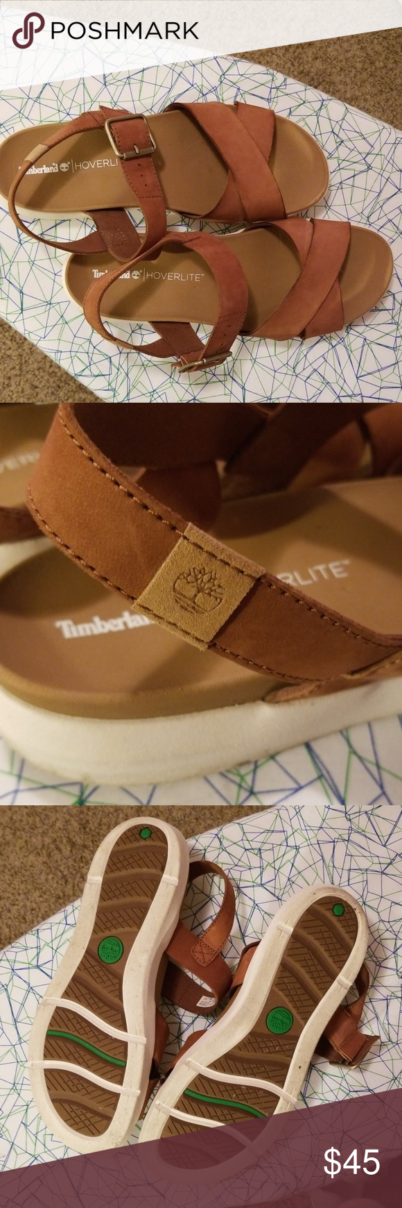 Timberland Hoverlite Sandals Worn a few times, my footbed is