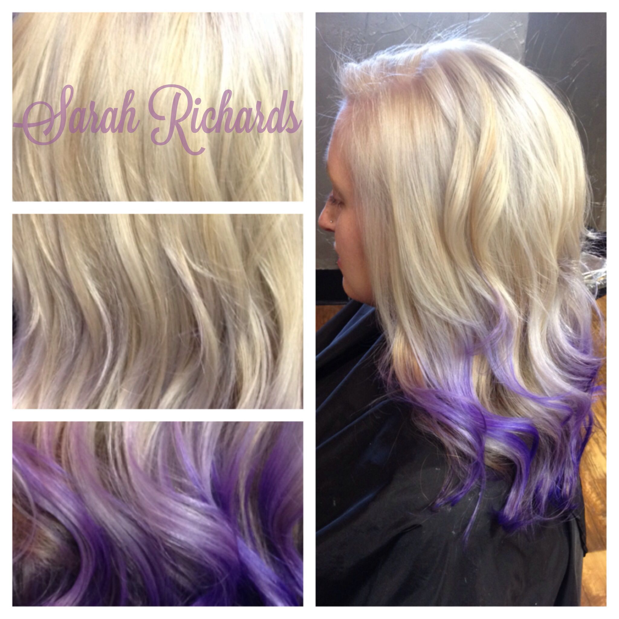 Violet ombré hair #ombre #platinum #blonde #violet #purple