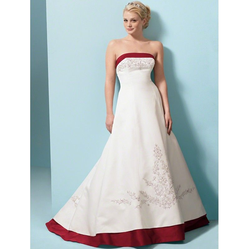 colored Wedding Dresses | Custom Made Girls Colored White Wedding ...