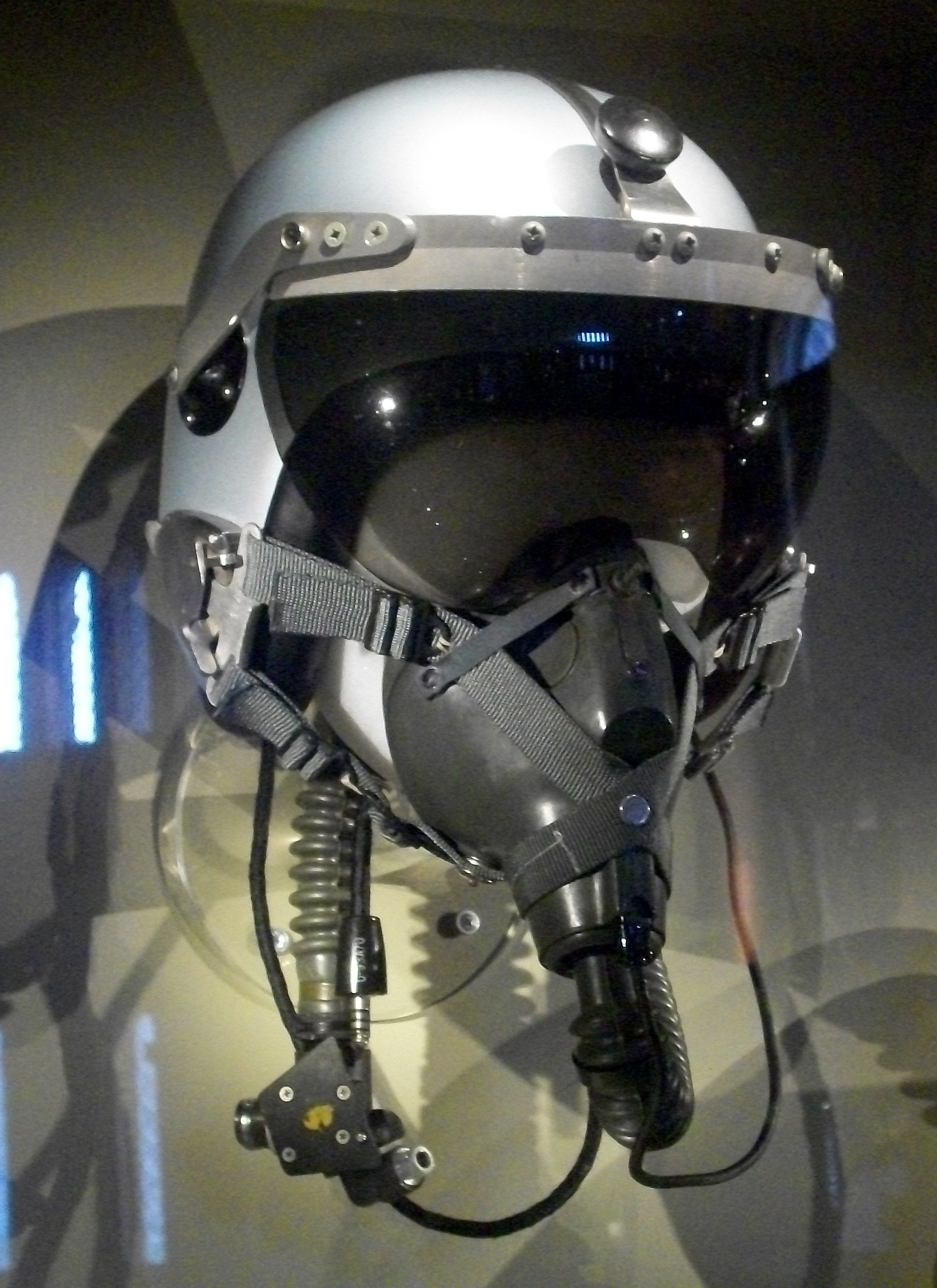 """Flying helmet worn by General Charles """"Chuck"""" Yeager. Best"""