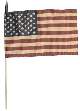 Tea Stained American Flag On Wood Dowel Stick Country Primitive Patriotic Décor BCD,http://www.amazon.com/dp/B00JL2V1D8/ref=cm_sw_r_pi_dp_90qxtb12XK3MTS5B