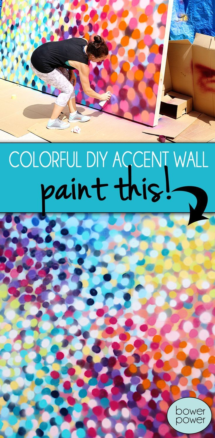 Colorful Spray Paint Accent Wall Accent Walls Spray Paint Wall