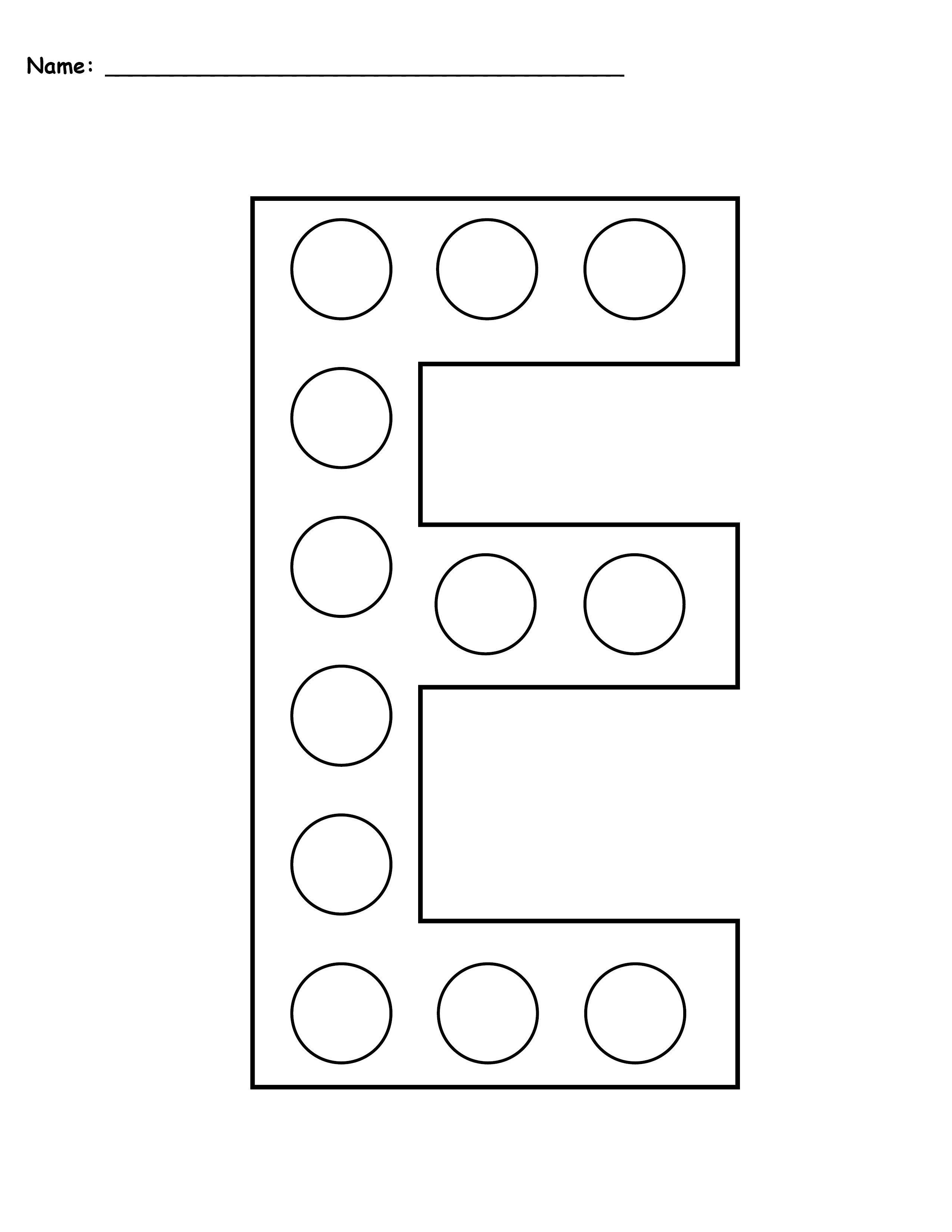 Letter E Do A Dot Printables Uppercase Lowercase Do A Dot Letter E Worksheets Letter A Crafts