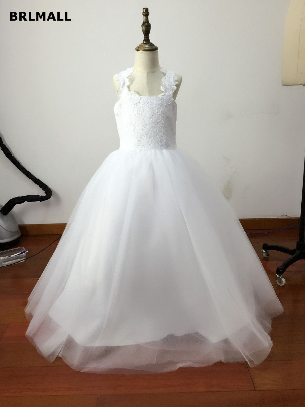 Click to buy ucuc arabic lace beaded flower girl dresses vintage
