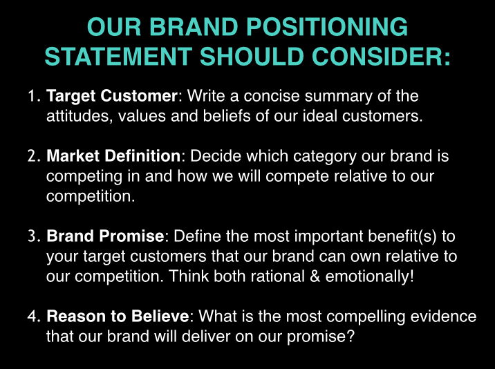 brand positioning statement key features its a hoot pinterest