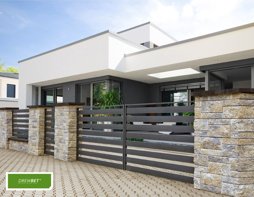 Ogrodzenia Lupane House Fence Design House Gate Design Modern House Facades