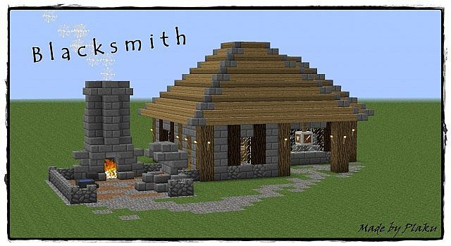 Minecraft Design Ideas toilet paper roll bathroom Minecraft Medieval Blacksmith Design Ideas 32501