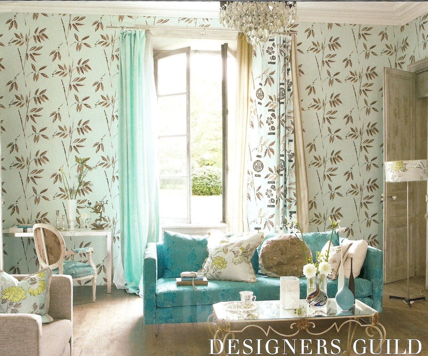 Bedroom Wallpaper Designs Unique Designers Guild Gold And Aqua  Living Room  Pinterest Design Ideas