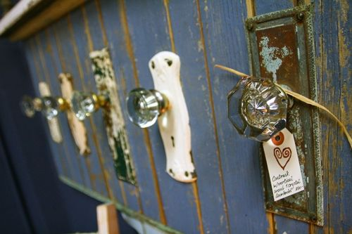 Good Coat Rack Made From Vintage Glass Door Knobs. Love How They Kept The  Original Plates