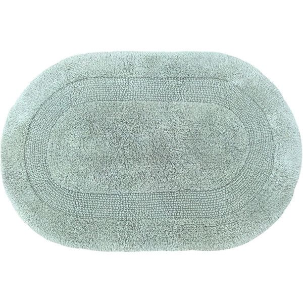 Gracious Reversible Oval Bath Rug Collection ($30) ❤ Liked On Polyvore  Featuring Home,