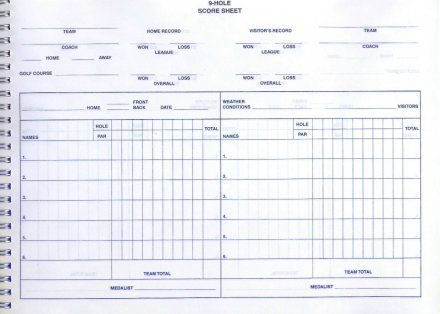 Easy Golf Score Book Golf Coaches Scoring Book Golf Score Team Golf Golf Gear