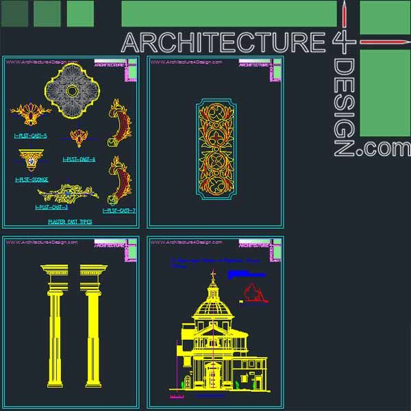 500 Classical Architecture Facades Elements For Autocad