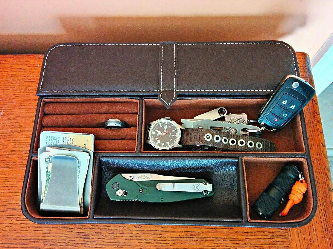Valet For Your Edc Everyday Carry Mens Valet Tray