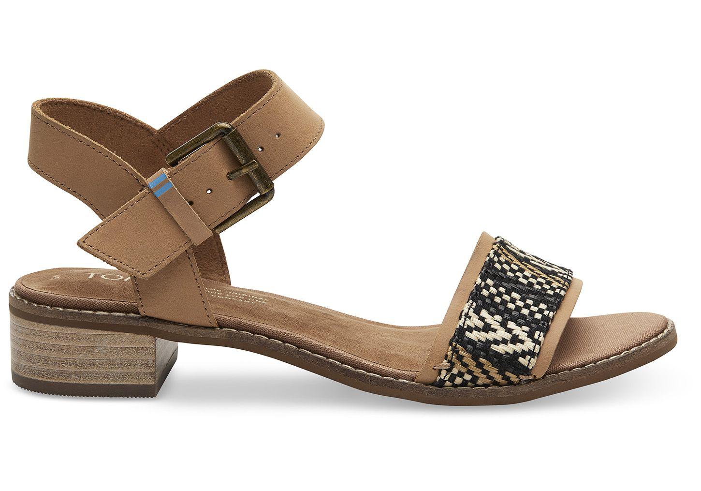 6ad8fa3d27b Honey Leather Geometric Woven Women s Camilia Sandals in 2019
