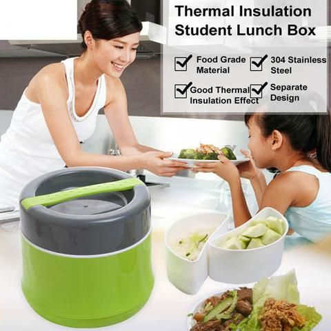 1.2L Student #ThermalInsulationLunchBox Sealed Insulation Bento Box https://goo.gl/7uJL3m