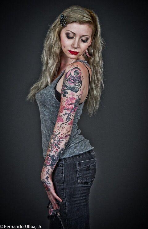 Image via We Heart It https://weheartit.com/entry/68458575/via/26436091 #blonde #model #Piercings #Plugs #Tattoos #ilymorgannn #morganjoyce
