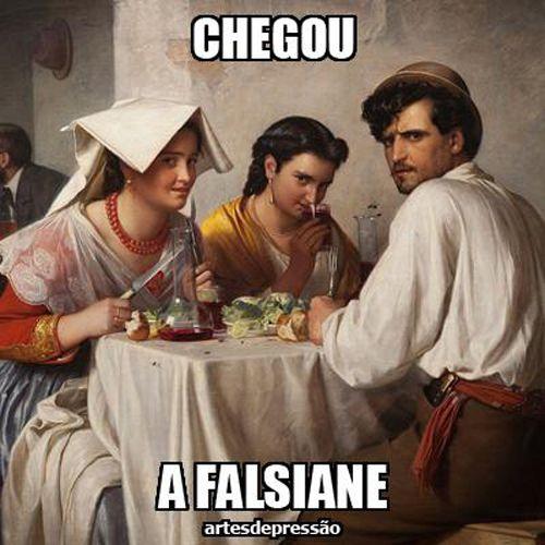 Os melhores memes sobre falsiane