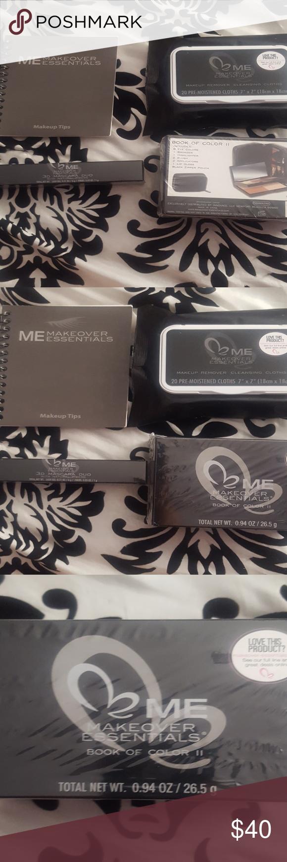 Makeover Essentials Makeup Reviews: NIB Makeover Essentials Makeup Set 1 Book Of Color Makeup