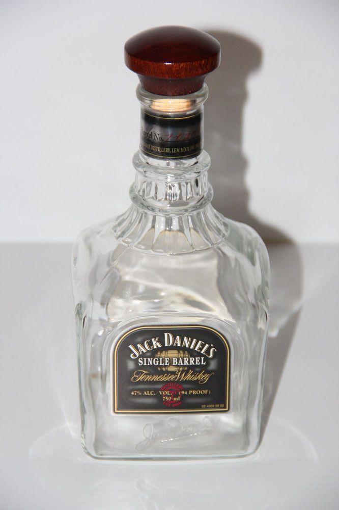 Jack Daniels Single Barrel Bottle W Wood Topper Cork 2