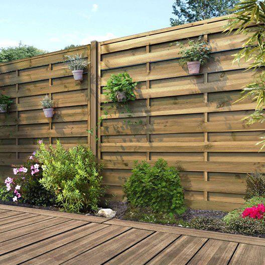 panneau bois occultant l 180 x h 180 cm naturel design en 2019 panneau bois jardin