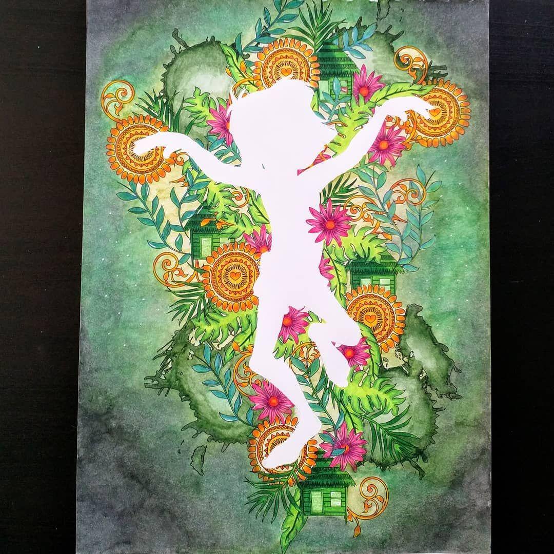 Le Livre De La Jungle Coloriage Issu Du Livre Silhouettes