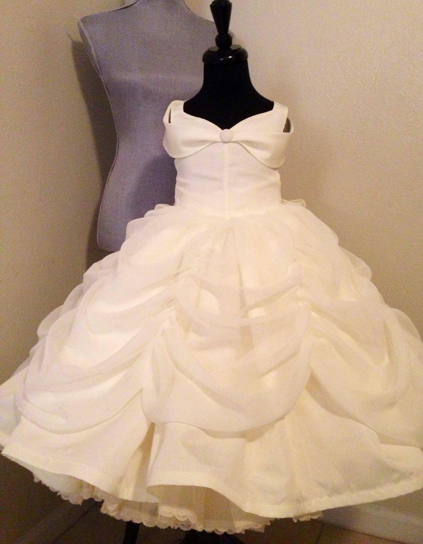 Belle Flower Girl Dress In Ivory From Tinkerellacreations On Etsy