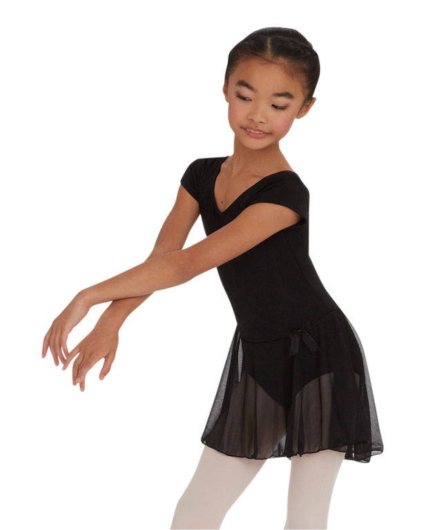 fae87d608 CAPEZIO Child Short Sleeve Nylon Dress  Dance  CAPEZIO