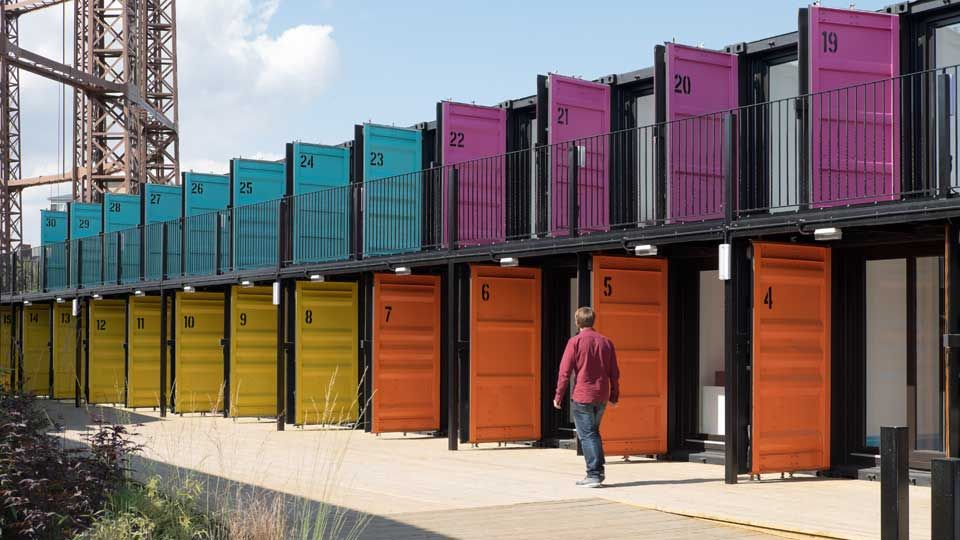 ContainerVille Londons Shipping Container Office Space