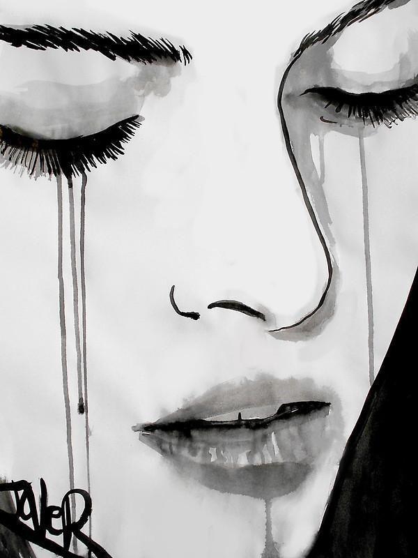Retrato de mujer llorando   pajaros en 2018   Pinterest   Art ...