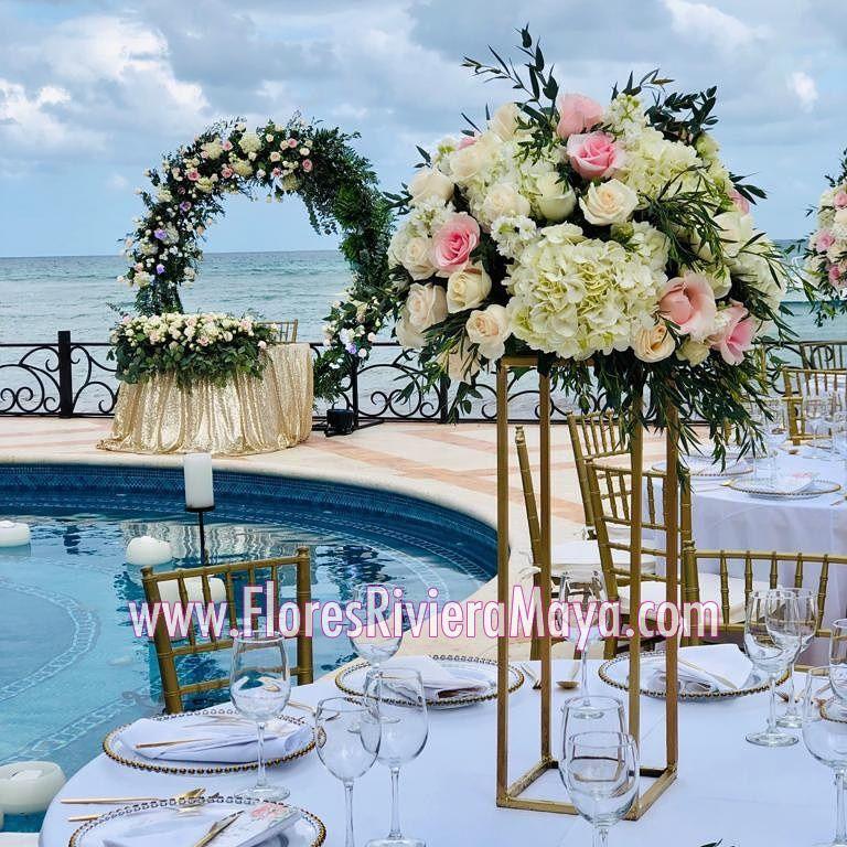 Playa Del Carmen Beach Wedding Modern Wedding Arch
