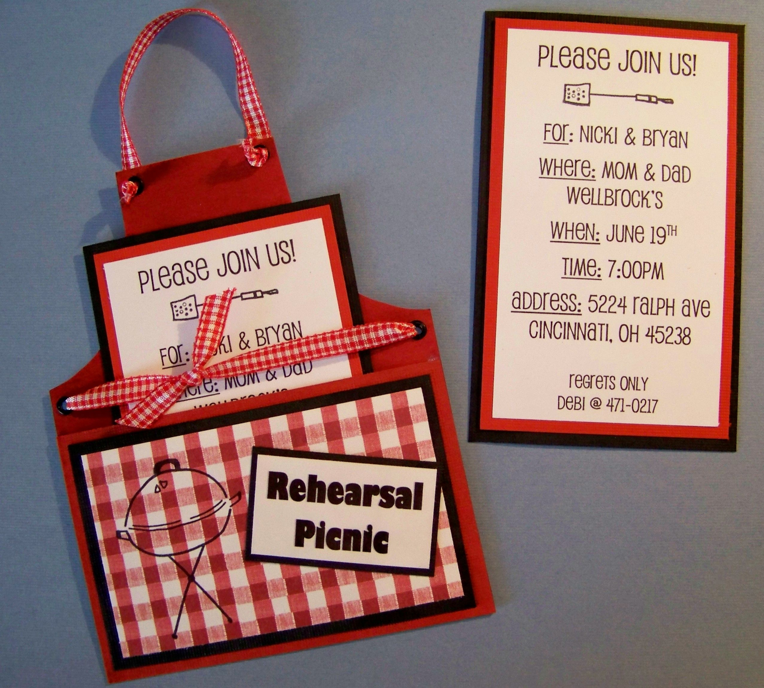 BBQ Apron Invitations | Pinterest | Dinner invitations, Rehearsal ...