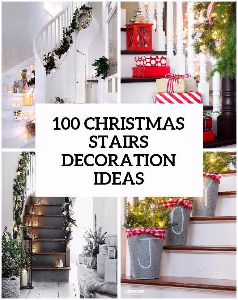 stairs christmas decorating ideas | Christmas stairs ...